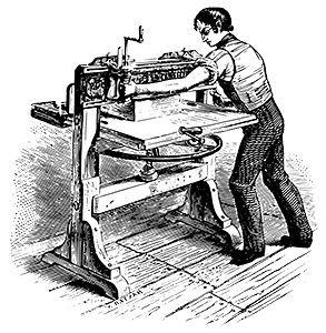 early style printing press
