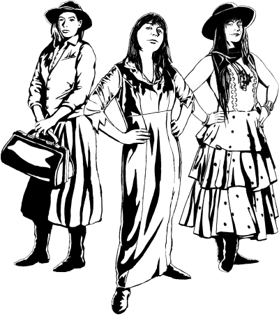 the women of the Darrwin Chronicles, Katherine, Annie and Isabella