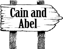 signpost linking to Cain and Abel comic page