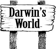 signpost linking to Darwin's World